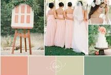 P E A C H   W E D D I N G / Peach wedding elements from flowers, to stationary, to dresses, shoes and accessories!