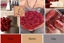 Red Wedding / Red wedding, everything from shoes to dresses and accessories to stationary