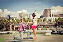 proposal photography: chad & kathlyn / Chad and Kathlyn live on opposite sides of the country, and Chad knew that the next time that he came to Long Beach to visit, that he was going to pop the big question. He contacted us to take secret photos during the big moment. . It was such a sweet moment and by the end we were all crying. Kathlyn was so surprised to meet us after the proposal, and beyond ecstatic to be engaged, as you can imagine. It was such an amazing experience, and we hope that we get to be a part of their special day!