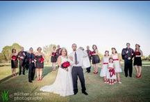wedding photography: kelsey & bobby / Lakewood High School sweethearts Kelsey and Bobby finally tied the knot! The ceremony and reception took place at El Dorado Golf Course in Long Beach, California, with plenty of black and red vintage-gothic glamour.