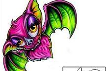 Bat Tattoos / Bat tattoo designs created by Tattoo Johnny artists