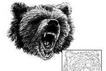 Bear Tattoos / Bear tattoo designs created by Tattoo Johnny artists