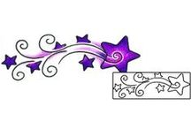 Shooting Star Tattoos / Shooting Star Tattoo designs created by Tattoo Johnny Artists