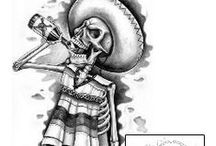 Day of the Dead Tattoos / Day of the Dead tattoo designs created by Tattoo Johnny artists