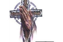 Praying Hand Tattoos / Praying Hand tattoo designs created by Tattoo Johnny artists