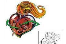 Sacred Heart Tattoos / Sacred Heart tattoo designs created by Tattoo Johnny artists