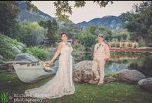 wedding photography: connie & amber / Connie and Amber were hitched at the Green Mountain Ranch in Lytle Creek. This rustic romantic location made the perfect backdrop for bridal portraits. So beautiful!