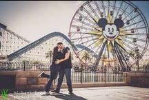 engagement photography: jeff & danielle / Jeff and Danielle are Disney nuts just like us, so where else did we shoot their engagement session than at Disneyland and Disney's California Adventure? Even though it was a million degrees, we had a great time during the shoot.