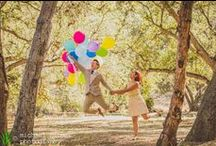 engagement photography: grace & patricia / Patricia and Grace wanted to do a fun engagement session inspired by Disney Pixar's UP, one of their favorite movies and love stories. Styled by their friend and prop master Andrew Thiels, they had so many great details--from the grape soda pin, to the balloons, adventure book, and more. We shot this at Irvine Regional Park in Orange, California, and had the best time capturing these two and the love that they have for each other.
