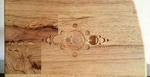 studio rack - solid wood hevea / studio effects rack 4U