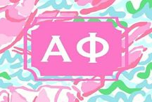 Alpha Phi / The A list sorority. Live, Love Alpha Phi. Envy the ivy.   / by Marissa Felinczak