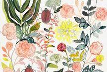 I love illustration / floral / illustration, floral, vegetables, flowers, design