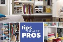 Tips From The Pros / Lorie from the Clutter Diet offers her tips on getting organized and living Clutter Free!