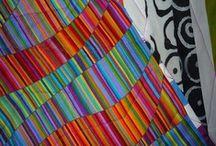 Tekstiili-inspiraatiota / Maalattuja, värjättyjä ja painettuja tekstiileitä...