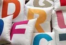 Tyynyjä / Ideoita toteutettuna eri tekniikoilla.