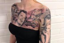 JP Wikman Tattoo portrait tattoos / Black n Grey realistic portrait tattoos. For appointment contact www.jpwikman.com or www.belowzero.fi
