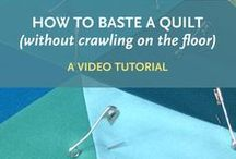 tips // quilting / Quilting tutorials + tips // quilting, basting, binding, finishing and labeling!  Learn quilting techniques and tricks!