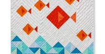 quilts // for kids / Super cute quilt ideas to make for a baby or child! Liven up a nursery or kid's room with these modern quilt.