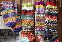 Socks/slippers/Legwarmers / Love to knit socks. Here you can find a lot of beautiful knitted or crocheted socks/slippers/legwarmers / by Linda
