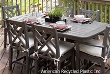 Really Cool Patio Furniture / Beautiful, colorful recycled plastic patio furniture. Ideal for outdoor use and it's recycled!  Dozens of styles & colors to choose from.