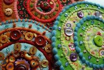 Colours of life / Embroidery, crazy colours, ...
