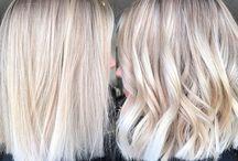 HAIRSTYLE / Hairstyle, Colours, Inspiration, Blond Hair, White Hair, Medium Hair...