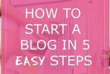 How To Start a Blog Tips / Learn how to start a blog to make money by blogging. #createblog #makemoneyblogging #startablog