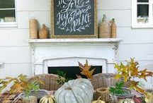 Rustic Fall Decor Inspiration / All the inspiration you need for Fall entertaining.  Tablescapes, Farmhouse Decor, Recipes, and More!