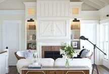 Family Rooms / Modern farmhouse family room inspiration.  Find out how the best bloggers decorate their farmhouse living rooms.  DIY projects, chairs, side tables, shelving, holiday style and more!