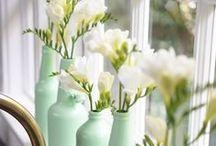 deco // jars + flowers