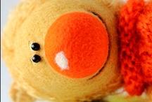Teddy Bears, neddle felted animals