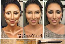 Contouring and highlighting / Contouring and highlighting all about defining your face and brining out the features you want by highlighting and shading the features you want to hide by contouring xx