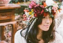 Hair style bride / Hair style for folk, rustic, vintage, industrial and romantic bride.