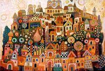 Illustrazioni/le case dipinte... / Illustrazioni, miniature e altro