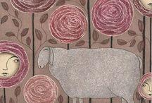 Illustrazioni in rosa / Dipinti, illustrazioni...tutti i toni del rosa