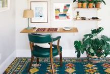 Spring / Pull the season of spring into your home with fresh colored rugs and decor.