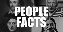 People Facts / Learn about the men and women who have shaped the modern world and left their mark in the history books.
