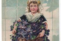 ... apregoando raminhos de violetas  / Sweet violets: modesty; watchfulness; faithfulness; I'll always be true