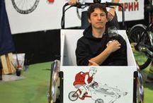 Salon du Cycle Paris 2013 / Vecto était présent sur le salon avec une animation de #streetart sur #triporteur