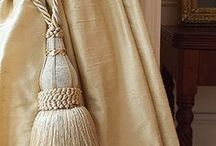 Tassels & Tie Backs / Gorgeous tassels, tie back ideas, curtain poles, rods, decorative ideas for window dressings.