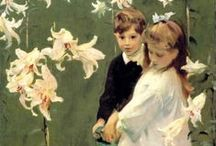 Kids in the World of Art / Children in the paintings of the great artists.