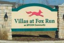 Villas at Fox Run, Plainfield, IL - an Epcon Community / Villas at Fox Run, an Epcon Community is located in the heart of Plainfield and offers maintenance-free luxury ranch homes surrounded by stunning beauty! This charming community features a brick paved entry, a bike trail, walking areas and three ponds. TVillas at Fox Run is located just minutes from shopping, dining, entertainment, historic downtown Plainfield, and major expressways.
