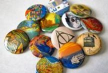 Pinback Buttons and Magnets / These are all pinback buttons and magnets that are sold through our Etsy store:  https://www.etsy.com/shop/bohemianapothecarium?ref=si_shop