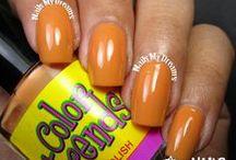 Orange Polishes / These are my swatches of my orange nail polishes.