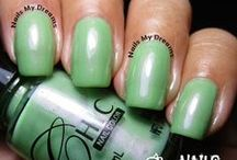 Green Polishes / These are my swatches of my green nail polishes..