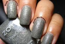 Silver, Gray and Black Polishes / These are my swatches of my silver and gray nail polishes...