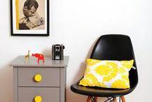 Inspiration: Gelb in Räumen / Diese Einrichtungsbeispiele sollen Anregung dafür sein, wie man den Gute-Laune-Faktor der Farbe Gelb in Räumen kann: mit Kissen, Decken, Teppichen, Lampen, Beistelltischen und anderen Wohnaccessoires von Guru-Shop oder anderen... / by Guru-Shop