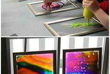 Malované sklo,drátky,tavné tyčinky