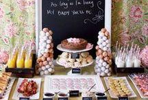 wedding dessert corner