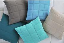 PickUp poduszki pikowane / Nowoczesne jednokolorowe pikowane poduszki idealne na kanapę lub łóżko.